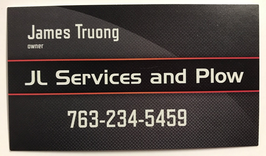 JL Services and Plow Business Card